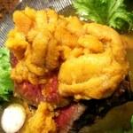 ベジバル Itaru 池袋 ~Vegetable Bar & Organic~ - ローストビーフ生雲丹と雲丹味噌卵黄ソース