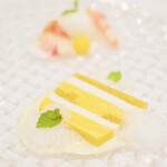 129801304 - ランチコース 6534円 の南国フルーツのムースとパイナップルジュレのテリーヌ