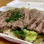 房総熟成肉庫 ジャイアン - サーロインステーキ&ガーリックライス1,200円