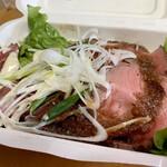 房総熟成肉庫 ジャイアン - 肉屋のローストビーフ丼、1,100円