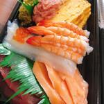無添くら寿司 - 手巻きセット(2〜3人前)のネタアップ