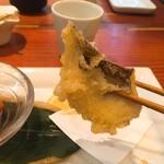 蕎麦切り 旗幟 - 酒あて三種盛り・あわび茸天ぷら