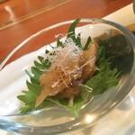 蕎麦切り 旗幟 - 酒あて三種盛り・梅水晶