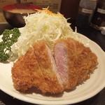 もち豚とんかつ たいよう - ロースカツ定食1500円
