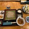 蕎麦CAFE 福 - 料理写真:そばCafe 福@十和田 かけ天そば+とろろ(1100円+50円)