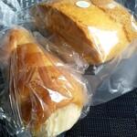 ル パン ドゥ - 料理写真:コルネとシフォンケーキ