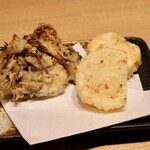 天ぷらと日本酒 明日源 - 舞茸と長芋