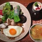 茶屋草木万里野 - アジアンディニッシュプレート:1180円