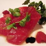 AKI NAGAO - 訪問2回目-ゆったりフレンチ-マグロを使った前菜