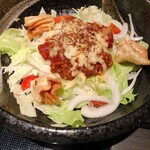 Gyouzanabeachankitashinchi - あーちゃん風タコライス 餃子スープ付き 850円
