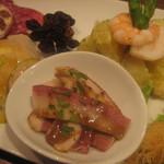 タイーム - 2012・5月 前菜盛り 馬肉の燻製ハム等
