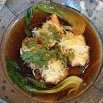 中国料理 琥珀 - のどぐろの葱・生姜蒸し フィッシュソースがけ