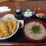 秀月 - 料理写真:いか野菜天丼セット