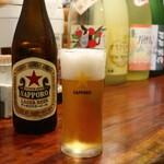 やき鳥 自遊人 - サッポロラガービール中瓶