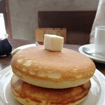 喫茶 アカリマチ - 焼きたてホットケーキ