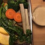 カロッツァ - 10種の蒸し野菜のバーニャカウダ