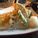 129903833 - 大海老天とそばのセット・天ぷら盛り