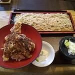 そば道 東京蕎麦style - 穴子天丼とそばのセット