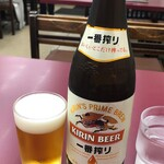 大黒ラーメン - ドリンク写真:瓶ビール中500円