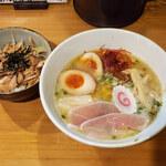 129909441 - 柚子そば&ミニチャーシュー丼