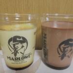 129917394 - 北海道フレッシュクリームプリン(左:\810)とチョコレートプリン(右:\831)