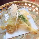 割烹やま - 鱧天ぷら