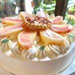 コンディトライ バッハマン - 桃のデコレーションケーキ
