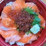 鮮魚とおばんざい 我屋 - サーモンいくら親子丼
