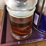 瀬戸内ラーメン 大島 - やはり同店も、お酢にイリコが入ってる