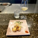 鉄板焼 花 - マグロのガーリックステーキ