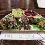 土蔵食亭 - 山菜盛合せ(1050円~3150円)_2012-05-12