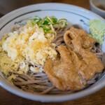 更科 - 料理写真:冷したぬき蕎麦