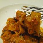 オルティージャ - 牡丹海老の濃厚トマトクリームのパッパルデッレ