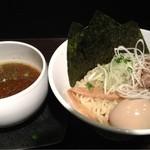 牛薫る麺処 嵐風 - 味玉つけ麺、アッサリ