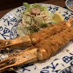 Murakamisuisannakagaininsengyobu - 料理写真:大エビフライ定食