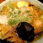 三水 - 醤油おろちょん+ねぎ+味玉子