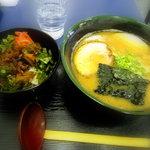 ラーメン 麺屋一休 - 醤油ラーメン+叉焼丼