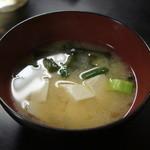 とんかつ 江戸 - 味噌汁