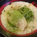 ラーメン 田中九商店 - 塩ラーメン 抹茶トッピング