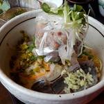 魚季亭 - 味噌たたき鯵のぶっかけ丼(タレかけ前)