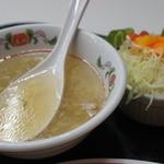 餃子の王将 - スープ、サラダ