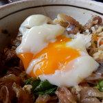 魚季亭 - 味噌たたき鯵のぶっかけ丼(温玉崩し~♪)