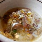 魚季亭 - 味噌たたき鯵のぶっかけ丼(〆はダシ茶漬け)