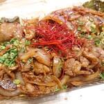 おーくら亭 - 阿蘇美豚の豚キムチ炒め(テイクアウト)