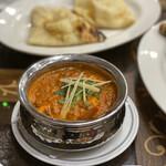 インディアンレストラン カナ - プラウンカレー