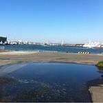 浜めし - 店のすぐ裏は漁港