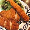 松乃家 - 料理写真:エビフライが中々長い。ロースカツ、ささみカツ