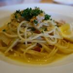 130028866 - ガーリックチキンと千寿葱、レモンのスパゲティ