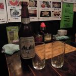 にんにく亭 - ドリンク写真:必需品のビール