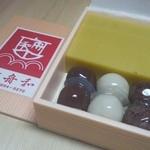 舟和 - 2012.5 芋ようかん3本あんこ玉3種6個(680円)